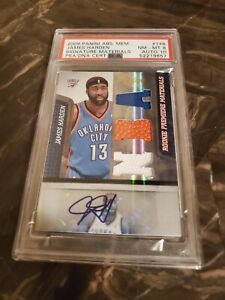 2009 Panini Absolute Rookie Premier Materials James Harden RPA RC SSP PSA 8/10🔥