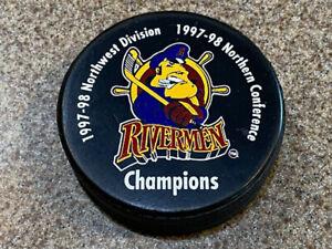 PEORIA RIVERMEN Championship ECHL Hockey Puck 1997-98