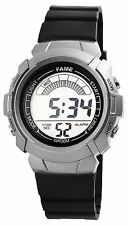 Fame Men's Women's Kids Quartz Watch Grey Black Digital Plastic G-60412110315399