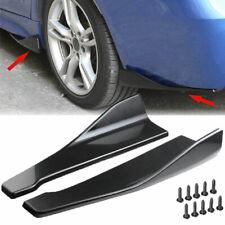 2x Universal Car Rear Bumper Spoiler Lip Side Skirt Extension Splitters Winglets