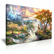 Disney Bambi Fawn  Kids Canvas Wall Art Picture Print 76x50cm Special Offer