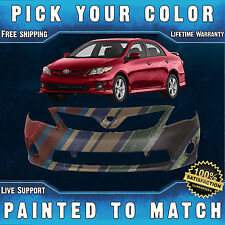 NEW Painted To Match - Front Bumper Cover For 2011-2013 Toyota Corolla S / XRS