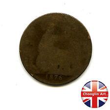 Un bronzo Britannica 1876 H Victoria PENNY COIN (Heaton) (Ref:1876_182/83)
