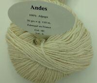 10 pelotes de magnifique laine  100 % alpaga  - FABRIQUE EN FRANCE