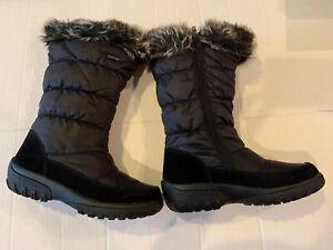 Spring Step Vanish Black Winter Snow Boots Womens Size EU 39 / US 8.5