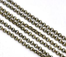10m anelli catena collana blogger colori bronzo metraggio 0,5 x 3,2 mm