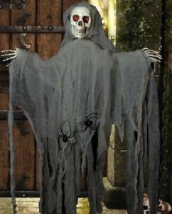 Halloween Skeleton Skull Ghost Shroud Spooky 1Mtr Hanging Party Decoration Prop