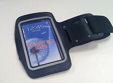 NEW BLACK SOFT GYM RUNNING SPORT ARMBAND ARM BAND FOR SAMSUNG GALAXY S3 S 3 III