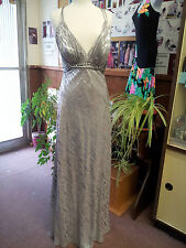 Faviana Amazing Prom Evening Special Occasion Dress. Silver. Size:14