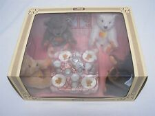 1982 GERMAN STEIFF TEDDY BEAR TEA PARTY SET LIMITED EDITION 5806 MINT IN BOX