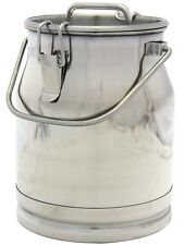 2.6 Gal. Stainless Steel Milk Can, Heavy Duty with Strong, Sealed Lid, 10 Qt