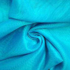 2.5 Yard 100 % Cotton Plain Turquoise Indian Cloth Natural Medium Weight Fabric