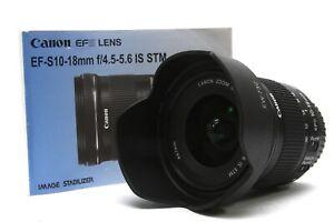 Canon EF-S 10-18mm f/4.5-5.6 IS STM Weitwinkel Tele Objektiv für EOS Kameras