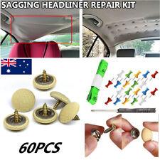 60 pcs Car Roof Repair Rivets Sagging Headliner Fix Repair Kit Pins Snap Rivet