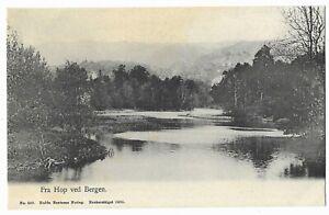 """Vintage Postcard """"Fra Hop ved Bergen"""" 1905"""