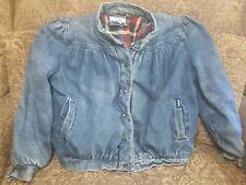 Vintage 80s Dawn Denim puffy Jacket Lined size L