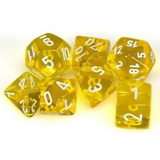Chessex: Translucent Polyhedral Dice Set - Yellow/White Role Playing Game