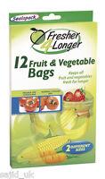 Sealapack 12 Fruit & Vegetable Bags - Fresher 4 Longer - 2 Different Sizes