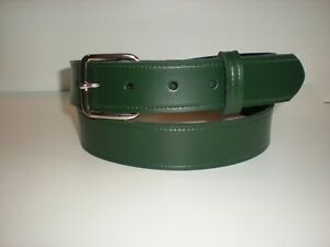32 mm Green strong leather belts slight seconds small to XXL £3.99