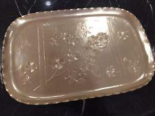 Vintadge Artrur Arour Gold Anodized Aluminum Tray
