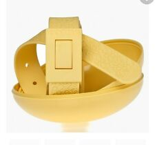 New Cinture Too Late Belt Yellow 100% Made in Italy