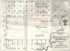 NY. Land Grant William Johnson Indio Niños. última Oportunidad Creek. 1797. 1849 Mapa