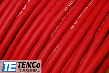 WELDING CABLE 2 AWG RED 10' FT BATTERY LEADS USA NEW Gauge Copper Solar