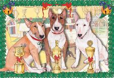 Bull Terrier Christmas Cards Set of 10 cards & 10 envelopes
