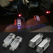 2X LED Logo 3D Shadow Light Projector Car Door Courtesy Laser For Audi A5-A6 Q7