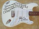 La Guns Tracii Phil Signed Autographed Guitar Never Enough Lyric PSA Guaranteed for sale