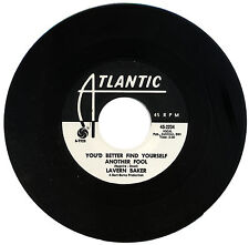 """LAVERN BAKER  """"YOU'D BETTER FIND YOURSELF ANOTHER FOOL""""    R&B  LISTEN!"""