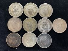 1907s US-Philippines 1 Peso Silver Coins (10 pcs)- lot #1