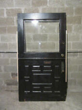 ~ Antique Oak Dutch Door With Beveled Glass ~ 45 X 84 ~ Architectural Salvage ~