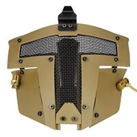 Tactical Airsoft SPT Steel Mesh Full Face Mask CS Protection AF Helmet Mask SD