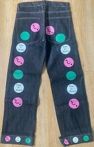 Time is Money mens baggy classic retro jeans, hip hop urban loose fit pants