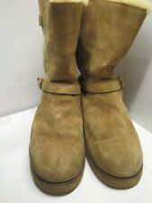 Genuine Ugg leather short Boots UK 9.5 Euro 42.5 in Brown