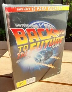 Back to the Future Trilogy DVD Set - NEW Sealed - Region 4 with 12 Page Booklet