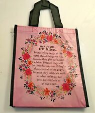 """Natural Life recycled plastic bag.9.25""""H x8""""W Medium Gift  Bag  BEST FRIENDS"""
