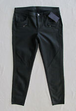 Belstaff Amelie Moto Skinny Jeans -Black Coated/Faux Leather- Size 31-NWT $395