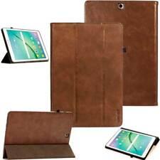 Premium Leder Cover Samsung Tab S2  Schutzhülle Case Tasche Tablet Etui braun