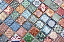 Handmuster bunte Mosaikfliese spanische Optik Retro Vintage Keramikmosaik ...