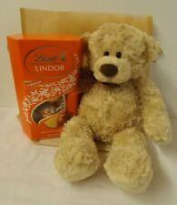 Gift set - Gund 'Myrtle' teddy bear with Lindor Orange chocolates + gift bag