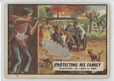 1962 Topps Civil War News #41 Protecting His Family Non-Sports Card 0c6
