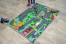 Bambini Tappeto 133cm x 95 cm Road Map TAPPETO PLAY TIME RACING CARS KIDS BEDROOM MAT