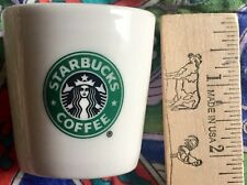 NEW MINT Starbucks Coffee White Ceramic Espresso Shot Glass Cup Classic Siren