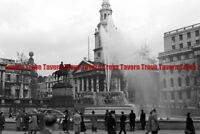 November 1948 ENGLAND Trafalgar Square Fountain 35mm Negative 52d4