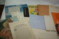 Vintage 1868-1970s Paper Ephemera Booklet Lot Brochure Letter Lot H 18 PCS