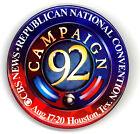 "Tough  ~  ""CBS NEWS/ CAMPAIGN '92 / HOUSTON ""  ~ 1992 RNC Convention Button"