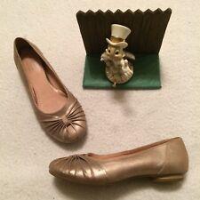 Clarks Artisan Womens Gold Leather Ballet Flats Size 7 M 74588 Minimal Wear NICE