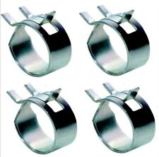 Fuel / Oil Line Clamps - 8mm - BZP - Pack of 4 - Yamaha YB100